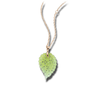 Tamara Comolli Anhänger India Leaf Apple Chalcedony Large P-IND-CHAP-L-RG