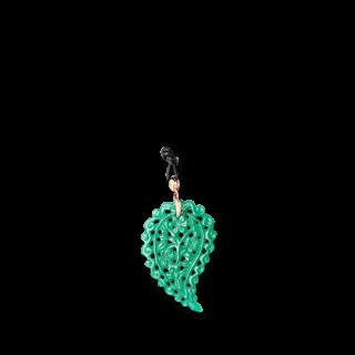 Tamara Comolli Anhänger India Leaf Grüner Onyx L P-IND-ONGR-L-RG