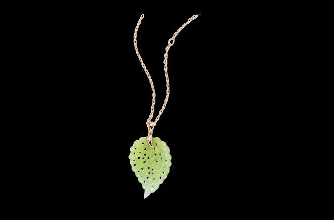 Anhänger Tamara Comolli India Leaf Large aus 750 Roségold mit 1 Chalcedon