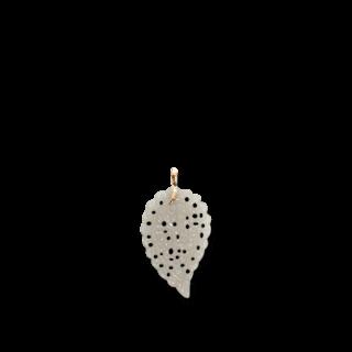 Tamara Comolli Anhänger Leaf Large Grauer Chalcedon P-IND-L-CAS-RG