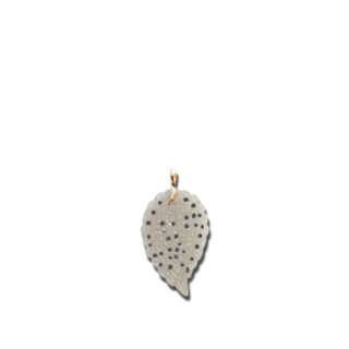Tamara Comolli Anhänger India Leaf Large Grey Chalcedony P-IND-CHGR-L-RG