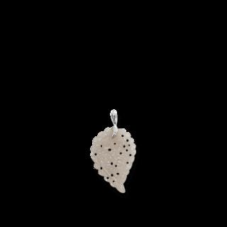Tamara Comolli Anhänger Leaf Medium Grauer Chalcedon P-IND-M-CAS-WG