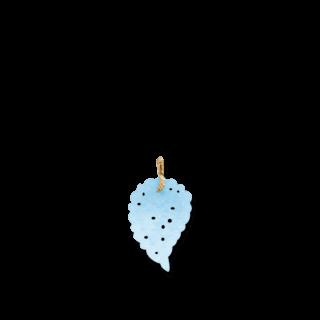 Tamara Comolli Anhänger India Leaf Medium Ocean Chalcedony Medium P-IND-CHOC-M-RG
