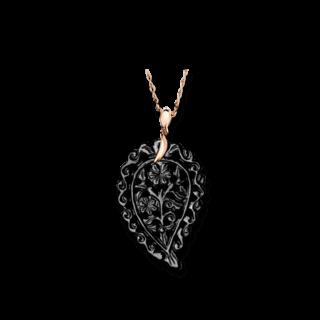 Tamara Comolli Anhänger India Leaf Schwarzer Onyx M P-IND-ONBL-M-RG