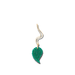 Tamara Comolli Anhänger India Leaf Small Green Onyx P-IND-ONGR-S-YG