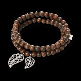 Tamara Comolli Armband und Halskette India Snakewood Gold Leaves B-IND-SW-LFBD-L-WG