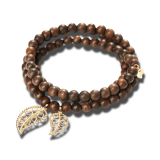 Tamara Comolli Armband und Halskette India Snakewood Gold Leaves B-IND-SW-LFBD-M-YG