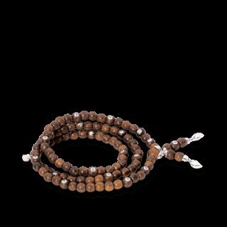 Tamara Comolli Armband und Halskette India Snakewood mit 20 Brillanten B-IND-SW-20CA-M-WG