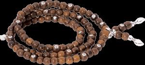 Armband und Halskette Tamara Comolli India Snakewood mit 20 Brillanten aus Snakewood und 750 Weißgold mit 20 Brillanten (0,4 Karat) Größe S