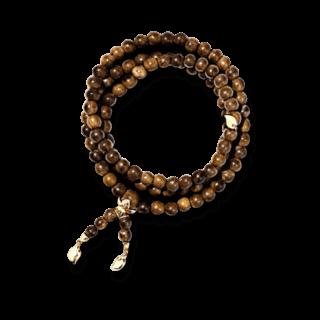 Tamara Comolli Armband und Halskette India Snakewood plain B-IND-SW-L-YG