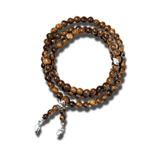 Tamara Comolli Armband und Halskette India Snakewood Plain B-IND-SW-M-WG