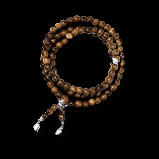Tamara Comolli Armband und Halskette India Snakewood Plain B-IND-SW-S-WG