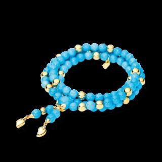 Tamara Comolli Armband und Halskette Türkis B-IND-TUR-S-YG