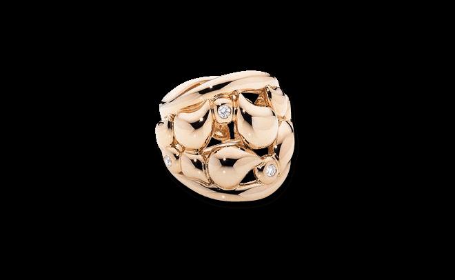 Ring Tamara Comolli Lace Large aus 750 Roségold mit mehreren Diamanten (0,1 Karat)