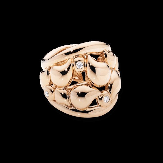 Ring Tamara Comolli Lace Medium aus 750 Roségold mit mehreren Diamanten (0,1 Karat)