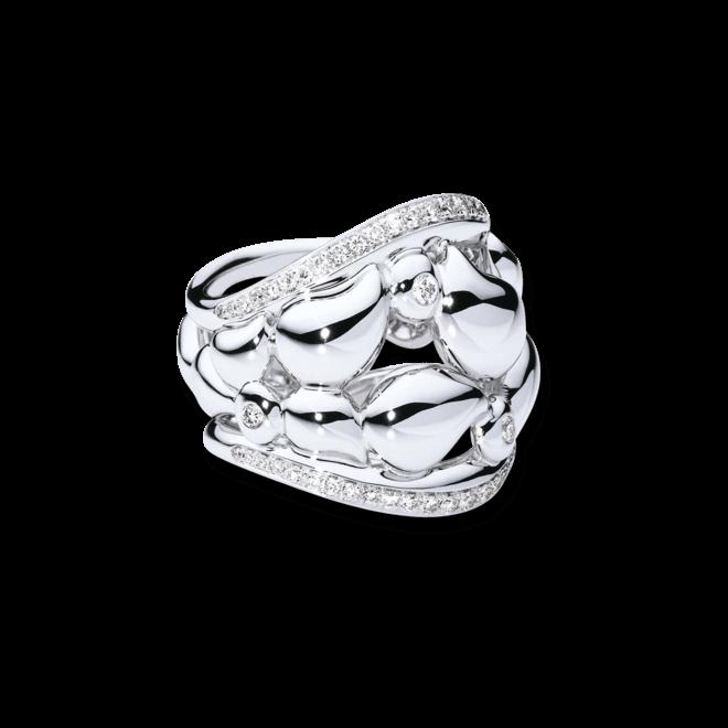 Ring Tamara Comolli Lace Medium aus 750 Weißgold mit mehreren Diamanten (0,5 Karat)
