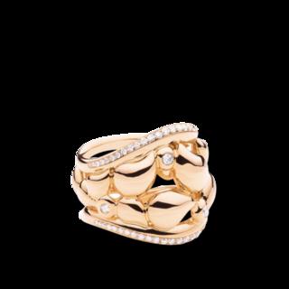 Tamara Comolli Ring Lace Ring Medium mit Diamant Pavé R-LAC-L-P-RG