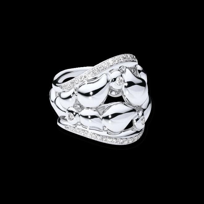 Ring Tamara Comolli Lace Small aus 750 Weißgold mit mehreren Diamanten (0,35 Karat)
