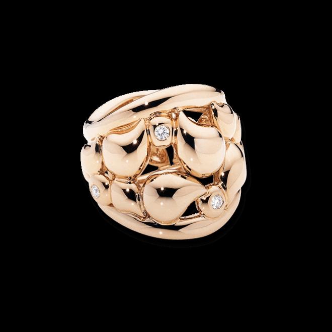 Ring Tamara Comolli Lace XL aus 750 Roségold mit mehreren Diamanten (0,18 Karat)