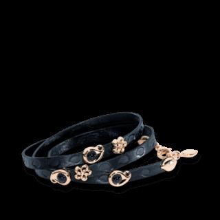 Tamara Comolli Armband mit Anhänger Loopy Beluga Schwarz B-LO-BEL-5-RG