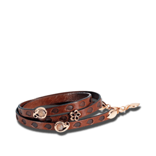 Tamara Comolli Armband mit Anhänger Loopy Camel Leather B-LO-CAMEL-3-RG