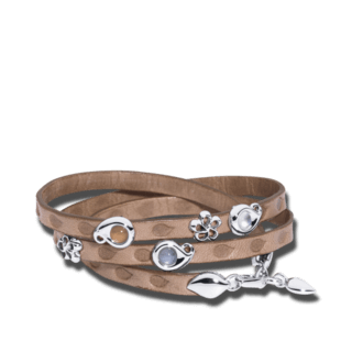 Tamara Comolli Armband mit Anhänger Loopy Cashmere B-LO-CAS-5-WG