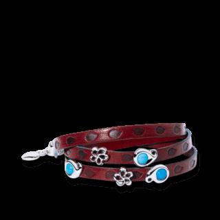 Tamara Comolli Armband mit Anhänger Loopy Turquoise B-LO-TUR-5-WG