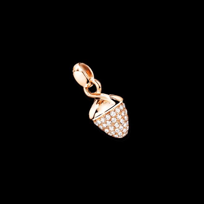 Anhänger Tamara Comolli Mikado Bouquet Pavé aus 750 Roségold mit 1 Diamant (1,2 Karat)