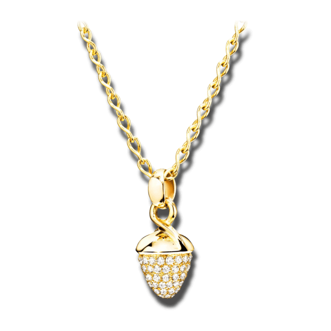 Anhänger Tamara Comolli Mikado Bouquet Pavé aus 750 Gelbgold mit 1 Diamant (1,2 Karat)