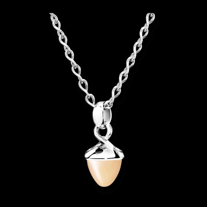 Anhänger Tamara Comolli Mikado Bouquet Sand-Mondstein aus 750 Weißgold mit 1 Mondstein