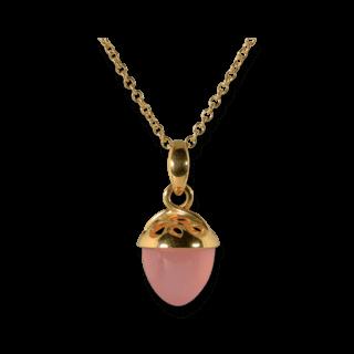 Tamara Comolli Anhänger Mikado Bouquet XL Fairy Pinkfarbener Chalcedon P-MB-XL-F-CHPI-YG