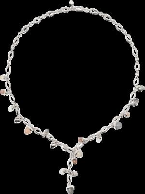 Armband und Halskette Tamara Comolli Cashmere aus 750 Weißgold mit mehreren Brillanten (0,22 Karat) und mehreren Edelsteinen