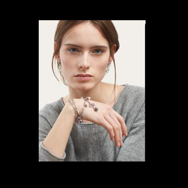 Armband und Halskette Tamara Comolli Cashmere aus 750 Weißgold mit mehreren Brillanten (0,22 Karat) und mehreren Edelsteinen bei Brogle