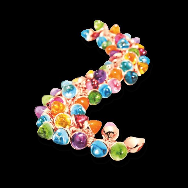 Armband Tamara Comolli Mikado Flamenco Candy aus 750 Roségold mit Edelsteinen
