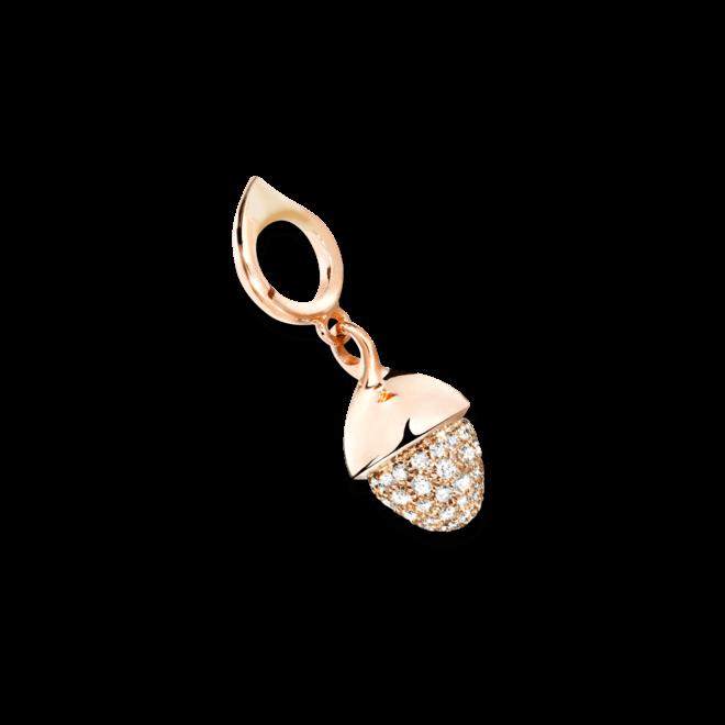 Anhänger Tamara Comolli Mikado Flamenco Champagne Pavé aus 750 Roségold mit 1 Diamant (0,5 Karat)