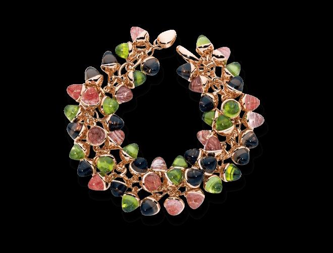 Armband Tamara Comolli Mikado Flamenco Wildberry aus 750 Roségold mit mehreren Amethysten, mehreren Granaten, mehreren Rhodoliten, mehreren Iolithen und mehreren Turmalinen