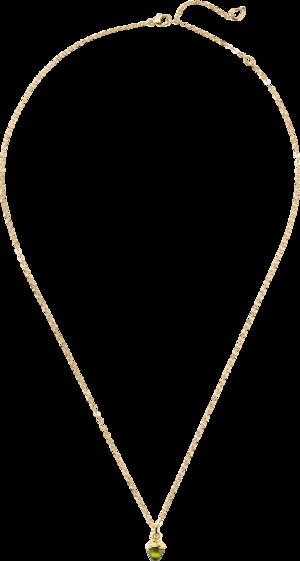 Halskette mit Anhänger Tamara Comolli myMIKADO aus 750 Gelbgold mit 1 Peridot