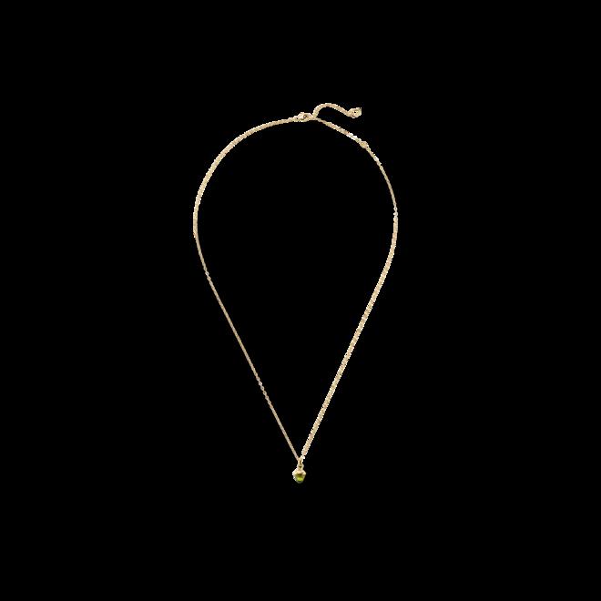 Halskette mit Anhänger Tamara Comolli myMIKADO aus 750 Gelbgold mit 1 Peridot bei Brogle