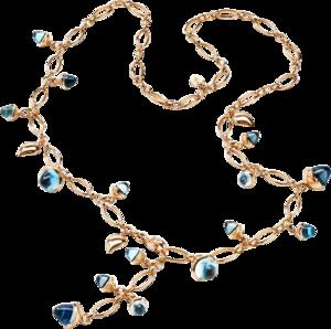 Armband und Halskette Tamara Comolli Sky aus 750 Roségold mit 3 Swiss-Topasen, 3 Sky-Topasen, 2 Swiss-Topasen, 1 Sky-Topas und mehreren Edelsteinen