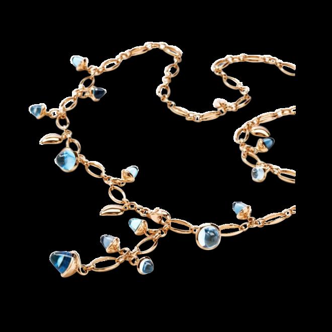 Armband und Halskette Tamara Comolli Sky aus 750 Roségold mit 3 Swiss-Topasen, 3 Sky-Topasen, 2 Swiss-Topasen, 1 Sky-Topas und mehreren Edelsteinen bei Brogle