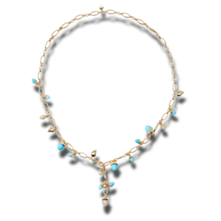 Tamara Comolli Armband und Halskette Turquoise N-M-56-TUR-P-YG