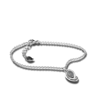Tamara Comolli Armband mit Anhänger Paisley Grauer Mondstein B-PS-MOGR-M-WG