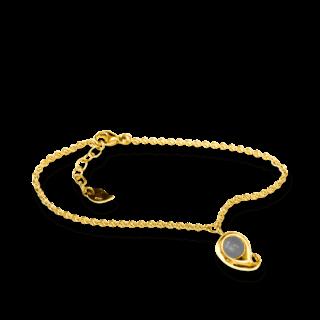 Tamara Comolli Armband mit Anhänger Paisley Grauer Mondstein B-PS-MOGR-M-YG