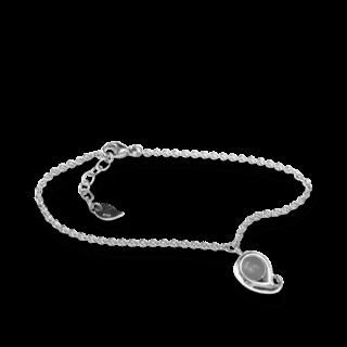 Tamara Comolli Armband mit Anhänger Paisley Grauer Mondstein B-PS-MOGR-S-WG