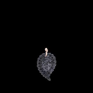 Tamara Comolli Anhänger Leaf Schwarzer Onyx M P-IND-ONBL-M-RG