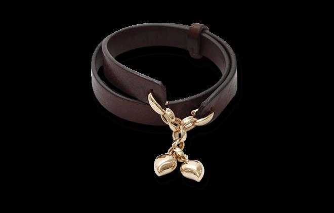 Armband Tamara Comolli Leather Loop aus Kalbsleder und 750 Roségold