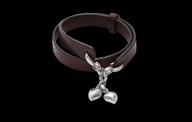 Armband Tamara Comolli Leather Loop aus Kalbsleder und 750 Weißgold
