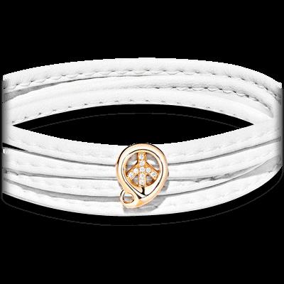 Anhänger Tamara Comolli Peace Slider Pavéline aus 750 Roségold mit mehreren Diamanten (0,15 Karat)