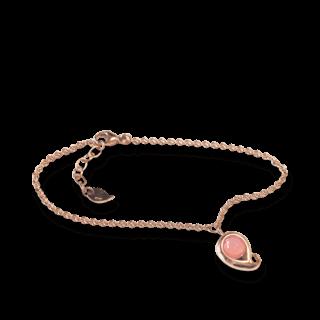 Tamara Comolli Armband mit Anhänger Paisley Pinker Chalcedon B-PS-CHPI-M-RG