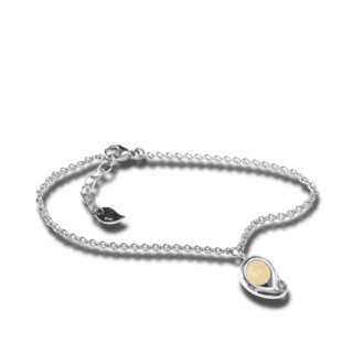 Tamara Comolli Armband mit Anhänger Paisley Sand-Mondstein B-PS-MOSA-M-WG